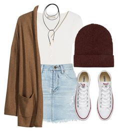"""Fall"" by feathersandroses ❤ liked on Polyvore featuring Michael Kors, Yves Saint Laurent, Vanessa Mooney, H&M, Converse and Topshop"