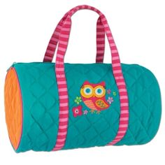 Stephen Joseph Quilted Teal Owl Toddler Duffel or Duffle Bag Includes Shipping! Ballet Clothes, Ballet Outfits, Quilting, Joseph, Teal, Turquoise, Travel Bags, Travel Packing, Owl Applique