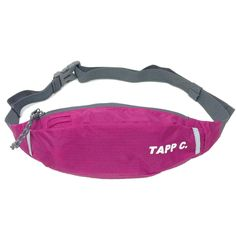 """Water Resistance Nylon Runners Belt Waist Pouch - Magenta. Tapp Collections is a trademark owned and operated by Tapp Collections, Inc. Tapp Collections products are sold exclusively by Tapp Collections authorized retailers. Any trademark infringement will be reported to Amazon. Product size: 4.7"""" x 13.4""""; Product weight: 2.5 oz. 1"""" wide nylon strap with an adjustable buckle, can fit your waist from 22"""" to 46"""". Top zippered closure with an interior zipper pocket; With an earphone port...."""