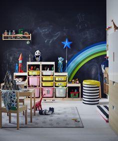 TROFAST basiselement | IKEAcatalogus nieuw 2018 IKEA IKEAnl IKEAnederland planken opbergbak bak opbergruimte opberger FLISAT wandopberger FLYTTBAR mand deksel kinderkamer speelkamer woonkamer