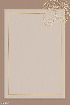 Download premium vector of Blank golden leafy frame vector by Adj about gold, beige, rectangular, gold leaf and invite card 1211980 Gold Abstract Wallpaper, Framed Wallpaper, Flower Background Wallpaper, Flower Backgrounds, Wallpaper Backgrounds, Pink Glitter Background, Cadre Design, Fond Design, Instagram Frame Template