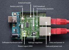 Arduino RS485 Shield (RJ45, bus-powered)