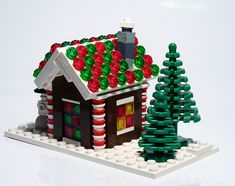 Lego gingerbread houses!