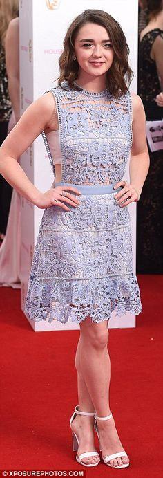 Masie Williams at the BAFTAS 2015