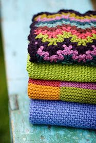 Vintage Crocheted Blankets by Churchmouse Yarns and Teas from Hey Jen Renee