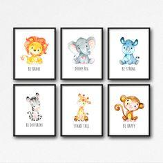 Animals Printable Nursery Art Jungle Animals by simplypstationery