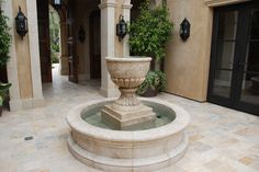 #fountain #limestone #waterfountain #naturalstone #patio #outdoorfountain