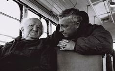 Ariel Sharon talks with David Ben-Gurion during a bus ride along Israeli Army positions on the Egyptian border, 1971. (photo: IDF/Flash90)