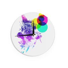 "Frederic Levy-Hadida ""Owl"" Purple Wall Clock"