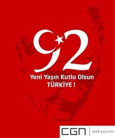 Cumhuriyet bayramımız, Türkiye'nin 92. yaşı kutlu olsun.