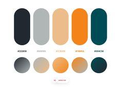 Color Combos: Dopely Colors by Mehdi Khodamoradi on Dribbble. Rgb Palette, Flat Color Palette, Vintage Colour Palette, Colour Pallette, Colour Schemes, Color Combinations, Design Plat, Web Design, Graphic Design