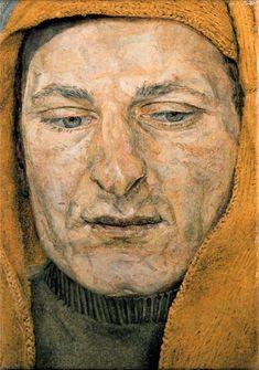 Man in a Headscarf (also known as The Procurer), 1954 Lucian Freud. Dang, Freud was good. Sigmund Freud, Lucian Freud Paintings, Antoine Bourdelle, L'art Du Portrait, Robert Rauschenberg, Artists And Models, Edward Hopper, David Hockney, Caravaggio