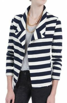 Loving the nautical vive of @Whetherly .'s Bella II Jacket, so chic! TODAY (11/13/12) ONLY, take 20% OFF this item with #promocode OUTERWEAR20. #couponcode #sale #discount #falljackets #fallcoats #wintercoats #dianiboutique #nautical