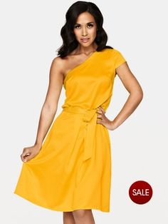 Myleene Klass Satin One Shoulder Dress