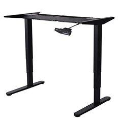FlexiSpot Height Adjustable Electric Standing Desk Frame Only Three-stage up for sale Laptop Table For Bed, Bed Table, Electric Standing Desk, Ikea, Office Computer Desk, Drafting Desk, Frame, Super, Furniture