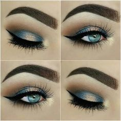 Look done using Makeup Revolution I ❤ Chocolate Salted Caramel palette