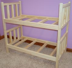 Usa Handmade Solid Wood Doll Bunk Bed Fits American Girl