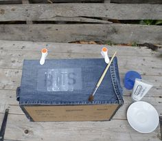 """DIY Denim Storage Boxes for Your """"Bits and Bobs"""""""