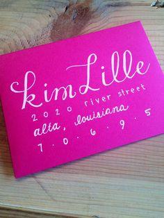 Kim & Alicia Style Hand Lettered Envelopes