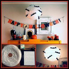 Dollar Store Crafter: Turn A Dollar Store Paper Lantern Into A Halloween Bat Light