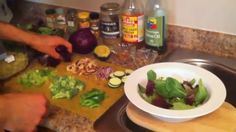 How to Make The Giant Cancer-Fighting Salad. Chris Wark (Chris Beat Cancer) - YouTube