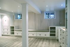 The cabinetry is Martha Stewart Living from The Home Depot. The style is Ox Hill in the Picket Fence colour.