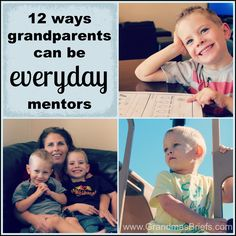 12 ways grandparents can be everyday mentors. In celebration of #mentoringmonth.