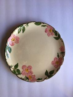 Franciscan Desert Rose 12.5  Round Platter Vintage used Made in the USA & Franciscan Desert Rose 4 Dinner Plates 10 ½u201d Vintage Made in the ...