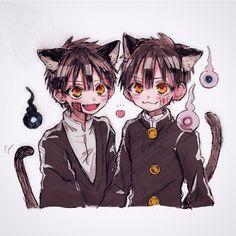 """Turns around and walks towards the door"" ""opens it. Otaku Anime, Manga Anime, Gato Anime, Anime Guys, Anime Art, Kawaii Chibi, Kawaii Anime, Cute Twins, Anime Lindo"