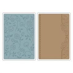 Sizzix Textured Impression Embossing Folders - Flowers