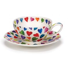 Warm Hearts Tea for one cup tea cup and Saucer Gift Box