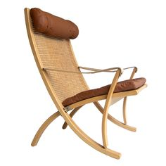 Rare Sigurd Ressel folding chair Vatne Mobler Norway | From a unique collection of antique and modern lounge chairs at https://www.1stdibs.com/furniture/seating/lounge-chairs/