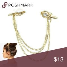 Angel Wing Hair Clip New Angel Wing Hair clip gold plated. See boutique for more fashions! Follow us to see New items posted daily!  #love #beauty #makeup #fashion #swimsuit #streetwear #style #trend #boho #matte #201 #designer #crop #mid #wedding #marriage #women #plussize #plus #petite #small #medium #large #unicorn #brush #gold #silver #human #hair #dress #shirt #short #top #sunglasses #watches #jewelry #choker #multilayer #bohemian #rings #leggings #necklace #bracelet #crop #mini…