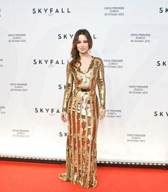 Berenice Marlohe wears ELIE SAAB Ready-to-Wear Fall 2012-13 to the Zurich premiere of Skyfall