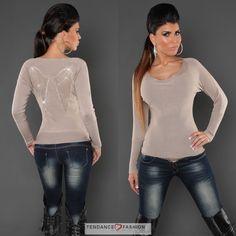 Pull femme tendance WENDY couleur beige