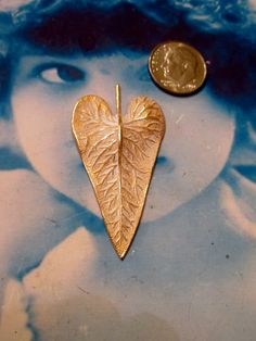 Gold Plated Frosted White Patina Brass Leaf Pendants 671WHT  x2 by dimestoreemporium on Etsy