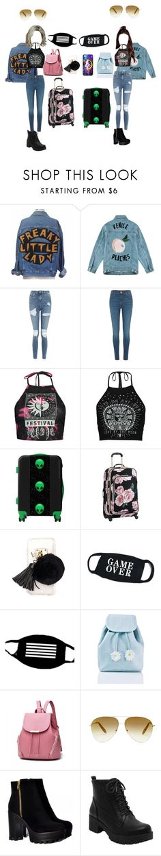 """""""☆Trip- mina and joona☆"""" by girl-gang-official ❤ liked on Polyvore featuring Être Cécile, Topshop, River Island, Boohoo, Ashlyn'd, CO, Sugarbaby and Victoria Beckham"""