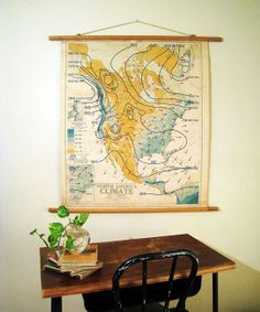 Vintage School Wall Map  North America Winter by twentytimesi, $115.00