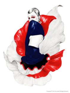 Mina Kim Fashion Illustrations