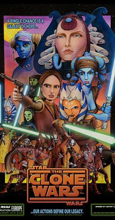 """This is titled """"Our Actions Define Our Legacy."""" a STAR WARS Celebration Europe II Limited Edition Art Print made by Lin ZY. This is the largest version of the poster I could find. Star Wars Fan Art, Star Wars Rebels, Star Wars Clone Wars, Star Trek, Candy Crush Saga, Marvel Contest Of Champions, Star Wars Personajes, Star Wars Celebration, Ahsoka Tano"""