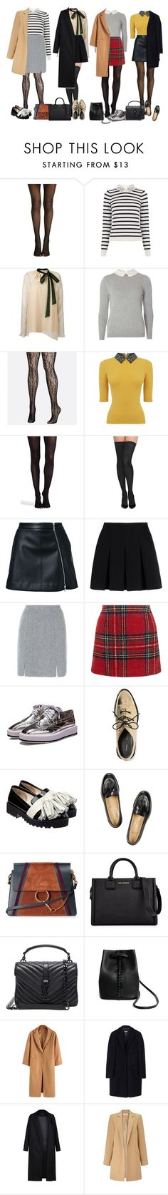 """school girl"" by audrey-balt on Polyvore featuring Oasis, Chloé, Dorothy Perkins, Avenue, SPANX, Commando, Guild Prime, Alexander Wang, D.Exterior and New Look"