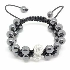 Top Value Jewelry - Hematite Beads with Single Clear Crystal Disco Ball Bead Double Strand Adjustable Woven Shamballa Bracelet Top Value Jewelry. $14.99. Great Gift for Men and Women. Contemporary and versatile piece, adjustable to fit any wrist. Hematite Beads with a Single Clear Crystal Disco Ball Bead Woven into Shamballa Bracelet. 8.5 Inches in Length but Adjustable to 6 Inches to fit smaller wrist. Trendy Black Hematite and Clear Color Disco Ball Bead Woven into...