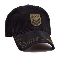 7eaf212b4 Embroidered Black US Army Baseball Cap Us Army, Caps Hats, Baseball Cap,  Baseball