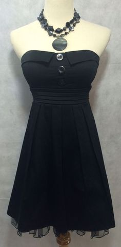 Betty Page 50's Pinup Style Rockabilly Black Strapless Prom Party Dress Size 3-4  | eBay