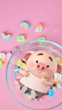 Pig Wallpaper, Funny Iphone Wallpaper, Disney Phone Wallpaper, Cute Girl Wallpaper, Cute Baby Pigs, Cute Piglets, Happy Birthday Pig, Cute Fluffy Dogs, Kawaii Pig