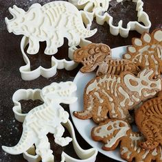 """Dig-Ins"""" Dinosaur Fossil Novelty Cookie Cutters/Stampers (Set of 3) for $8.49!"""