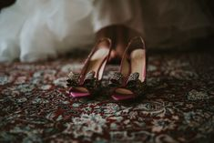 Pink wedding shoes—enough said! Kate spade, wedding shoes, wedding photography, moody photography inspiration, wedding ideas #weddingshoes