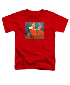 Purchase a Patrick Francis Red Designer  toddler t-shirt featuring the image of Bowl Of Fruit 2014 by Patrick Francis.  Available in sizes 2T - 4T.  Each toddler t-shirt is printed on-demand, ships within 1 - 2 business days, and comes with a 30-day money-back guarantee.