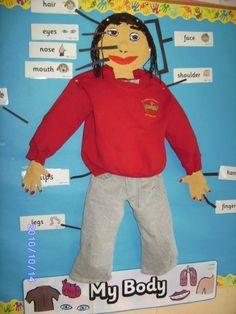 Love the idea of using a uniform on the display. Might use this idea for our 'School Days' theme