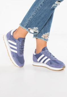 adidas Originals. HAVEN - Trainers - super purple/footwear white. Care instructions:treat with a suitable protector before wear. Sole:synthetics. Shoe tip:round. Heel type:flat. Lining:textile. detail:decorative seams. shoe fastener:laces. upper material:leather ...